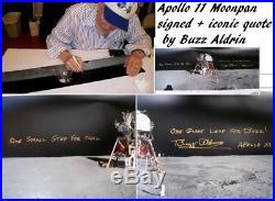 APOLLO 11 Moonwalker BUZZ ALDRIN Neil Armstrong signed NASA Moonpan UACC RD