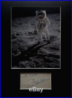 AUTHENTIC BUZZ ALDRIN signed AUTOGRAPH Apollo 11 NASA Moon Landing