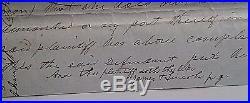 Abraham Lincoln Authentic Original Signed Partial Document C 1852 Coa Jsa