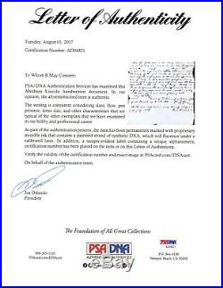 Abraham Lincoln Autograph Letter Signed in 1847 As Congressman PSA/DNA LOA