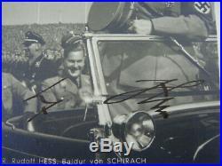Adolf Hitler Signed Autograph On Postcard Circa 1938