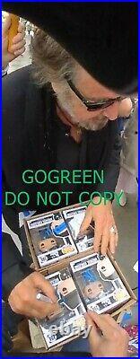 Al Pacino signed Michael Corleone funko pop Godfather poster PSA photo Scarface