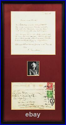 Albert Einstein Authentic Signed & Framed Handwritten Poem BAS #A57927