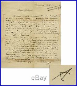 Albert Einstein Autograph Letter Signed re Hitler