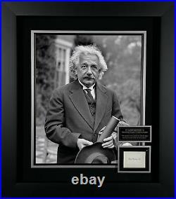Albert Einstein Autographed Display