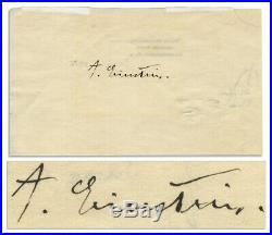 Albert Einstein Signature Autograph Signed Page