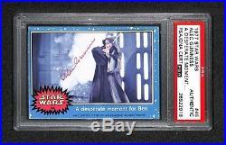 Alec Guiness Obi Wan Kenobi 1977 Topps Star Wars Signed Autographed Card Psa/dna