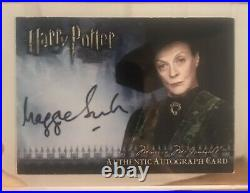 Artbox Harry Potter Autograph Auto Card Maggie Smith Professor McGonagall HBP