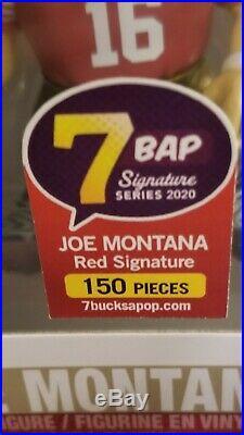 Autographed Joe Montana (49ers) NFL Funko Pop! JSA COA / 7 BAP signature series