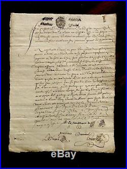 Autographed Manuscript from 1600s. MULTIPLE SIGNATURES