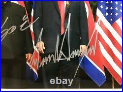 Autographed President Donald Trump & Kim Jong-Un 8x10 Dual Signed Photo