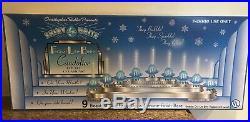 Autographed Rare Radko Silver Festival Lite Brite Candolier Bubble Lights