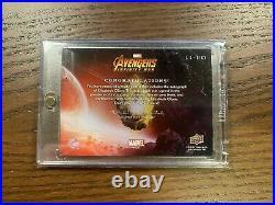 Avengers Infinity War Elizabeth Olsen Autograph Card Marvel Upper Deck