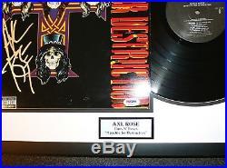 Axl Rose Signed Guns N Roses Appetite For Destruction Vinyl Album PSA Autograph