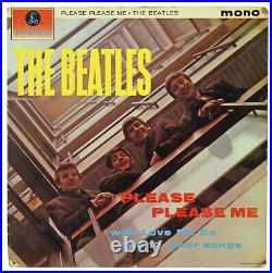 Beatles 4 Lennon, McCartney, Harrison & Starr Signed Parlaphone Album Cover BAS