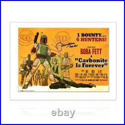 Boba Fett Signed Carbonite Is Forever Poster