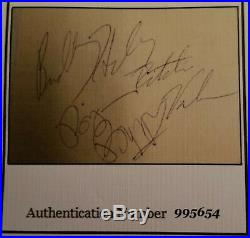 Buddy Holly Ritchie Valens Big Bopper Hand Signed Autograph Page with2COA's