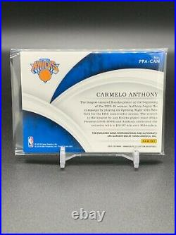 Carmelo Anthony 2015-16 Immaculate Collection Premium Patch Auto 22/25 SP Knicks