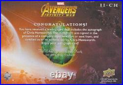 Chris Hemsworth THOR 2018 UD Avengers Infinity War autograph autographed card CH