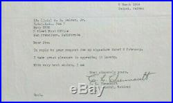 Claire Lee Chennault Commander Flying Tigers''Rare'' Signed''CAT'' Letterhead