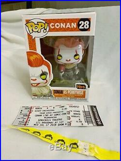 Conan as Pennywise 2019 SDCC Funko Pop (28) signed / autographed