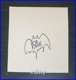 DC Comics Batman Co-Creator Bob Kane Hand Signed Page Sketch Todd Mueller COA