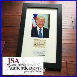 DONALD J TRUMP JSA LOA Full Signature Autograph Signed Paper President