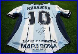 Diego Maradona Signed 2001 Argentina Farewell Testimonial Shirt AFTAL COA