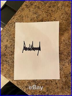 Donald J Trumps signature Signed Lake Charles, LA