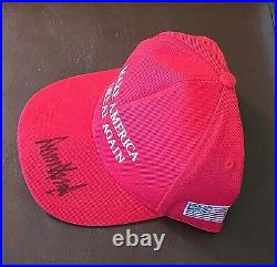 Donald Trump Autograph Hand Signed MAGA Hat with Letter of Authenticity