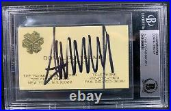 Donald Trump Signed Autographed Business Card President Slabbed Beckett Bas