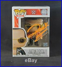 Dwayne The Rock Johnson Signed Autographed WWE 46 Funko Pop w COA