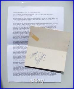 Elvis Presley Genuine Hand Signed Autograph Las Vegas Hilton Feb 1972 Coa