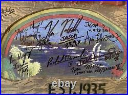 Friday the 13th Crystal Lake Plastic Sign Autographed by 15 Jasons! JSA LOA