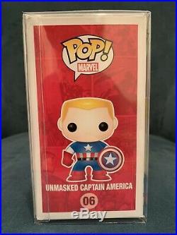 Funko Pop Chris Evans Autographed Metallic Unmasked Captain America Comikaze COA