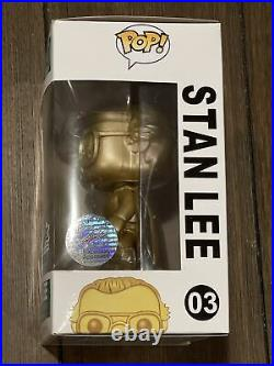 Funko Pop! Stan Lee Gold #03 Signed Autograph Excelsior Approved Exclusive