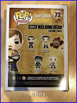 Funko Pop The Walking Dead Daryl Dixon #72 Hot Topic Exclusive Autographed
