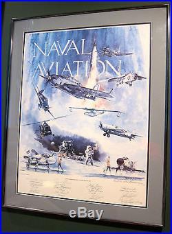 George H. Bush Gene Cernan John H. Glenn Alan B. Shepard JOE FOSS AUTOGRAPHED