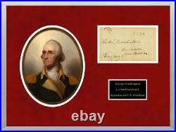 George Washington Autograph, Signed Presidential Free Frank circa 1790. PSA