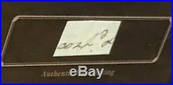 George Washington Handwriting Signed 1797 Psa/dna Authentic Historic Framed