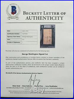 George Washington President Signed Autograph Beckett Bas Authentic