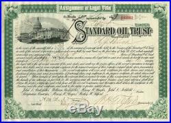 Henry Flagler signed Standard Oil Trust Stock Certificate