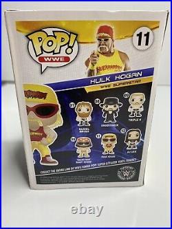 Hulk Hogan #11 Hulkamania Shirt Funko Pop AUTOGRAPHED (bought from beach shop)