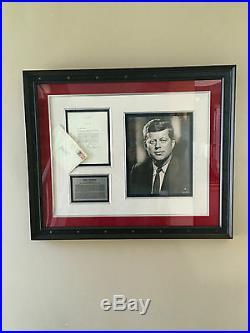 JFK Autographed JOHN F. KENNEDY signed 1963 White House Letterhead Museum Framed