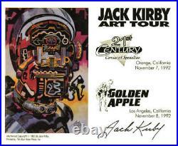 Jack Kirby hand-signed Autographed Bookplate 1992 Art of Jack Kirby