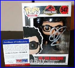 Jeff Goldblum Autographed Jurassic Park Signed 547 Ian Malcom Funko Pop PSA JSA