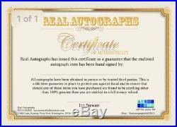 Joe Calzaghle signed Trunks in Frame AFTAL Dealer Proof COA