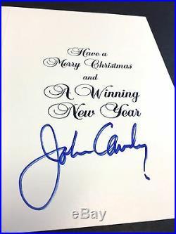 John Candy Autograph 1991 Toronto Argonauts Signed Christmas Card JSA