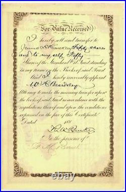 John D. Rockefeller Signed Stock Certificate for Oil