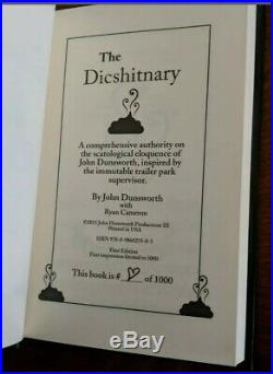 John Dunsworth Autograph DICSHITNARY 1/100 Trailer Park Boys Signed Jim Lahey